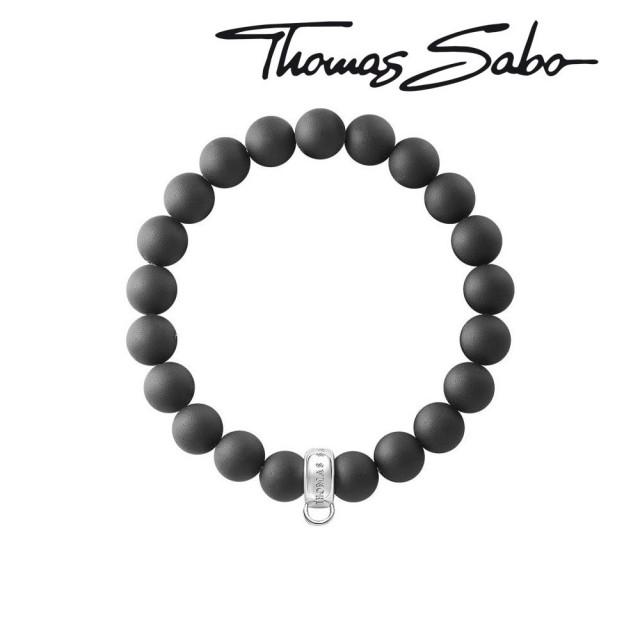 Thomas Sabo Charms Bracelet X0208-023-11 - L 16,5 cm Obsidian black