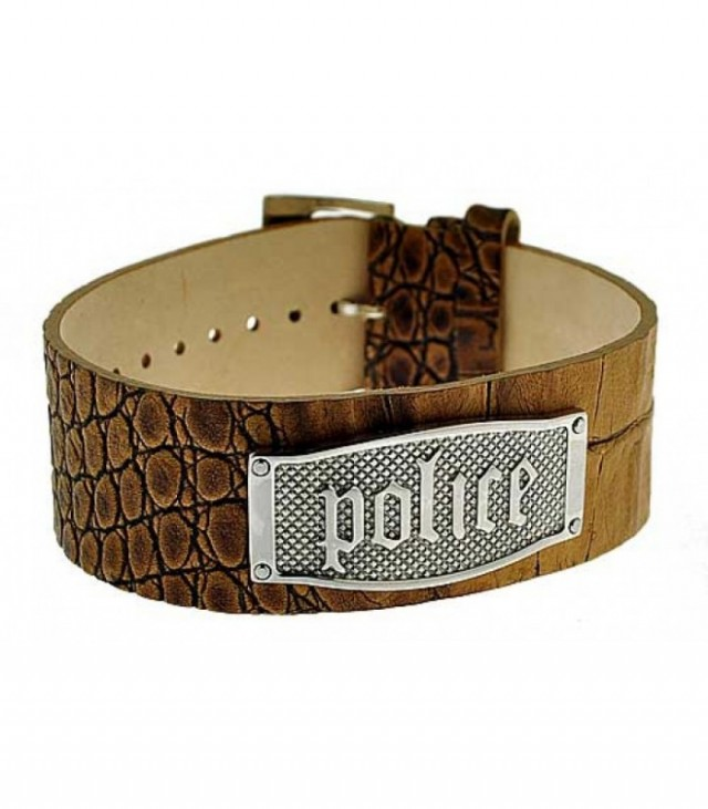 POLICE Leather bracelet PJ21321BLC-05
