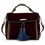 TRUSSARDI JEANS JUDY VELVET HANDBAG FOR WOMEN